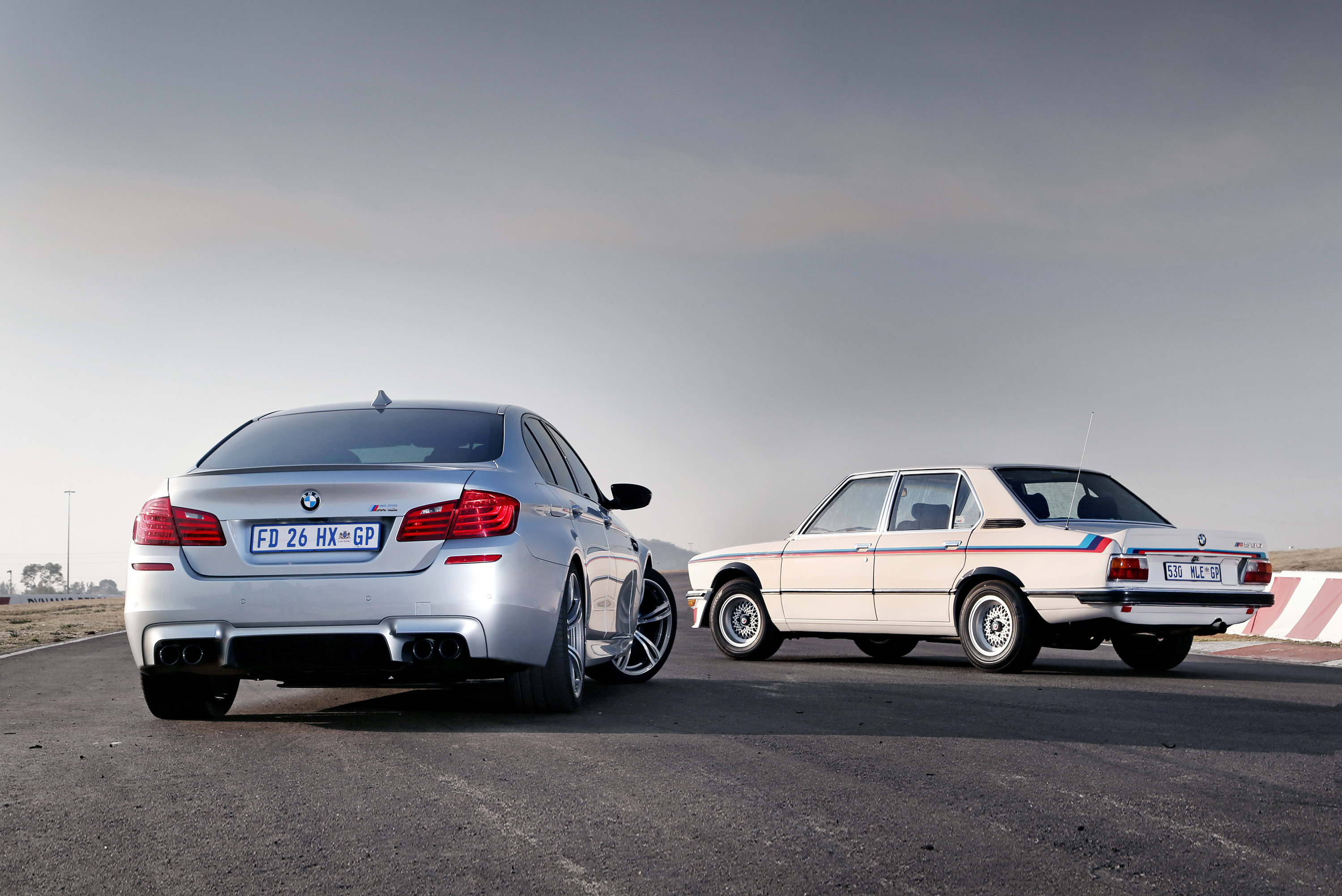 <p>The BMW 530MLE and BMW M5 Pure Metal Edition</p>