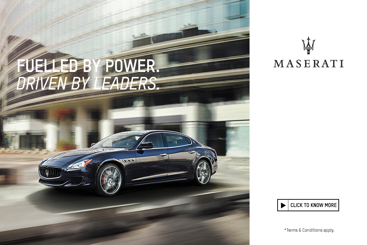 <p>The Maserati Quattroporte is a true reflection of the passion with which every engineer, technician and specialist designs, tests, and refines each individual vehicle as if it were their own.</p>